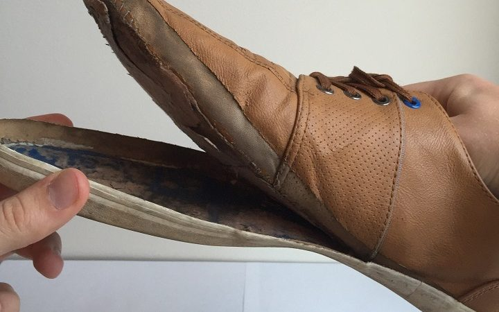 how do you reattach the sole of a shoe